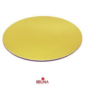 Base redonda gruesa oro 25cm 5mm