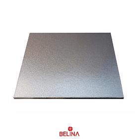 Base cuadrada gruesa plata 40cm 5mm