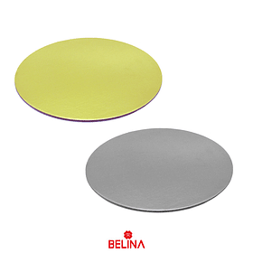 Base Redonda Gruesa 40cm 5mm Color Aleatorio Oro/Plata