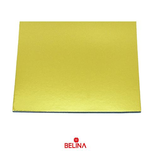 Base cuadrada gruesa oro 35cm 5mm