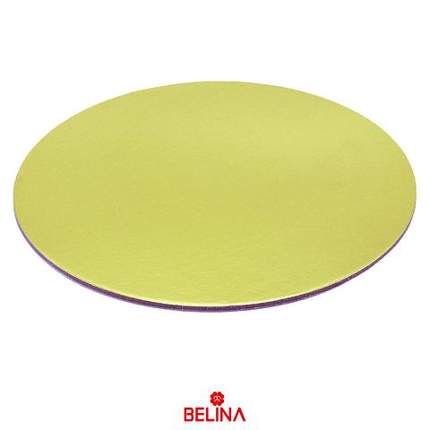 Base redonda gruesa oro 40cm 5mm