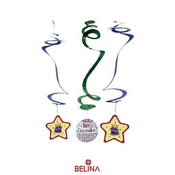 Espirales Metalicos Feliz Cumplenos 6pcs