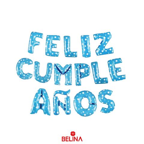 Globo Letras Feliz Cumpleaños Azul 16 Pulgadas