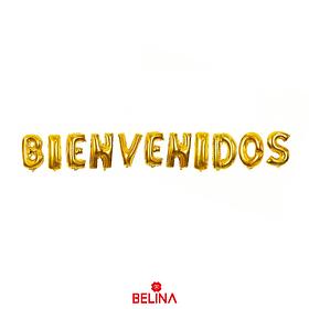 Globo Bienvenidos Dorado 11pcs 16 Pulgadas