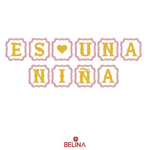 Guirnalda Es Una Niña Blanco/Oro/Rosa 450cm 10pcs