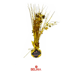 Soporte para globos con helio dorado