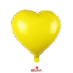 Globo corazon amarillo 45cm