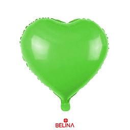 Globo corazon verde
