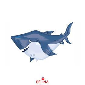 Globo metalico tiburon 65x96cm
