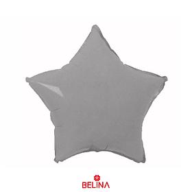 Globo estrella gris
