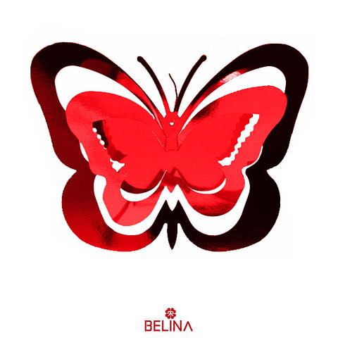 Guirnalda Mariposa Burdeo 11pcs