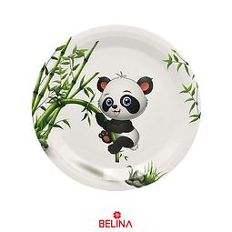 Plato De Carton Oso Panda  6 Pcs 18cm