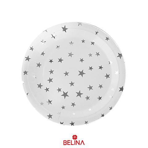 Plato pequeño estrellas plata
