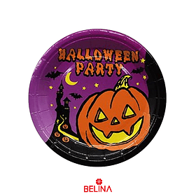 Plato Halloween Party 6pcs 18cm
