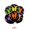 Globos fluor negro con mariposas