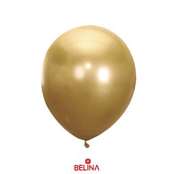 Globo de latex 30cm dorado cromado
