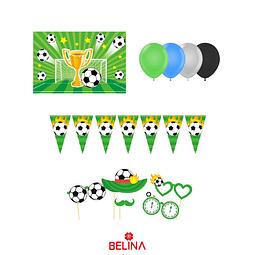 Kit de cumpleaños futbol 27 pcs
