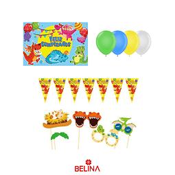 Kit de cumpleaños dragon 27 pcs