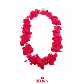 Collar hawaiano rosa fluor