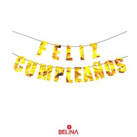 Guirnalda feliz cumpleaños 5M color oro