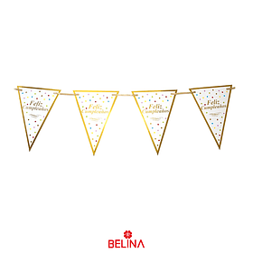 Guirnalda de banderines feliz cumpleaños 4m