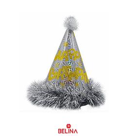 Gorro de cumpleaños plata