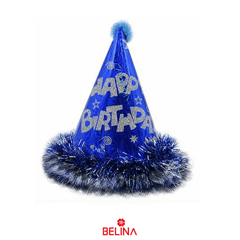 Gorro De Cumpleaños Azul