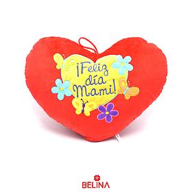 Cojín Rojo Feliz Día Mami 25cm