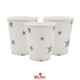 Vasos Estrellas Plata