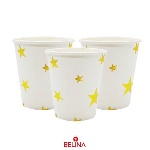 Vasos Estrellas Oro