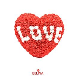 Corazón De Rosas De Goma Eva Love 33cm Rojo