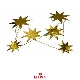 Guirnalda estrella metalizada oro