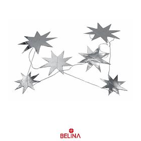 Guirnalda Estrella Metalizada Plata