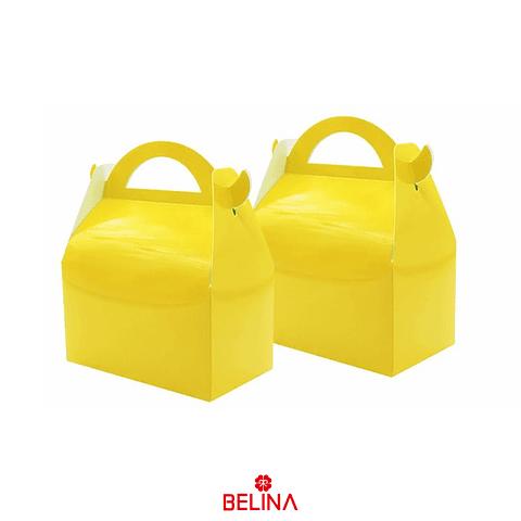 Caja De Tarta Amarilla 3pcs 16x9x19cm