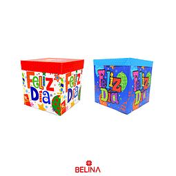 Caja de regalo plegable Feliz dia 15 cm