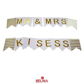 Guirnalda Mr Mrs Kisses