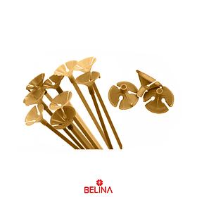 Varillas de globos oro
