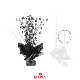Base para globos con varillas y extensores color negro