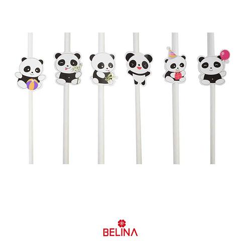 Bombillas De Oso Panda 6pcs
