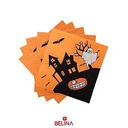 Servilletas De Halloween Fantasma 16un