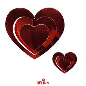 Guirnalda 3d corazones 16pcs