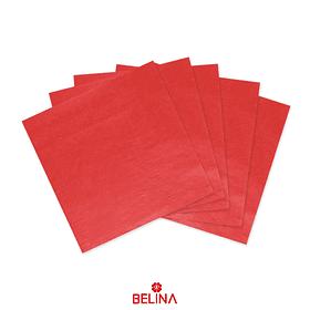 Servilletas de papel roja 16pcs 33x33cm