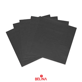 Servilletas de papel negras 16pcs 33x33cm