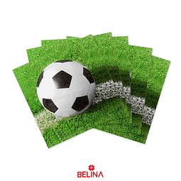 Servilleta De Papel De Futbol Impresa 16pcs 33 X 33cm
