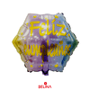 Globo metalico feliz cumpleaños amarillo/lila 45cm