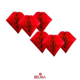 Guirnalda diamante papel rojo
