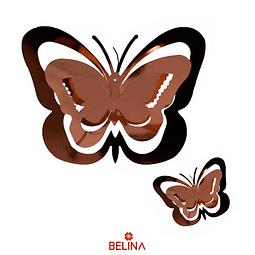 Guirnalda mariposas oro rosa 11pcs
