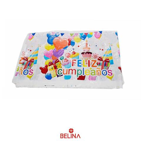 Mantel de feliz cumpleanos pasteles/globos