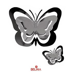 Guirnalda mariposa plateado 11pcs