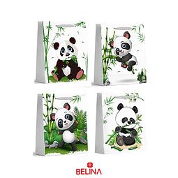 Bolsa De Regalo Brillante Panda 26x32x10cm